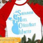 Snowman Words SVG