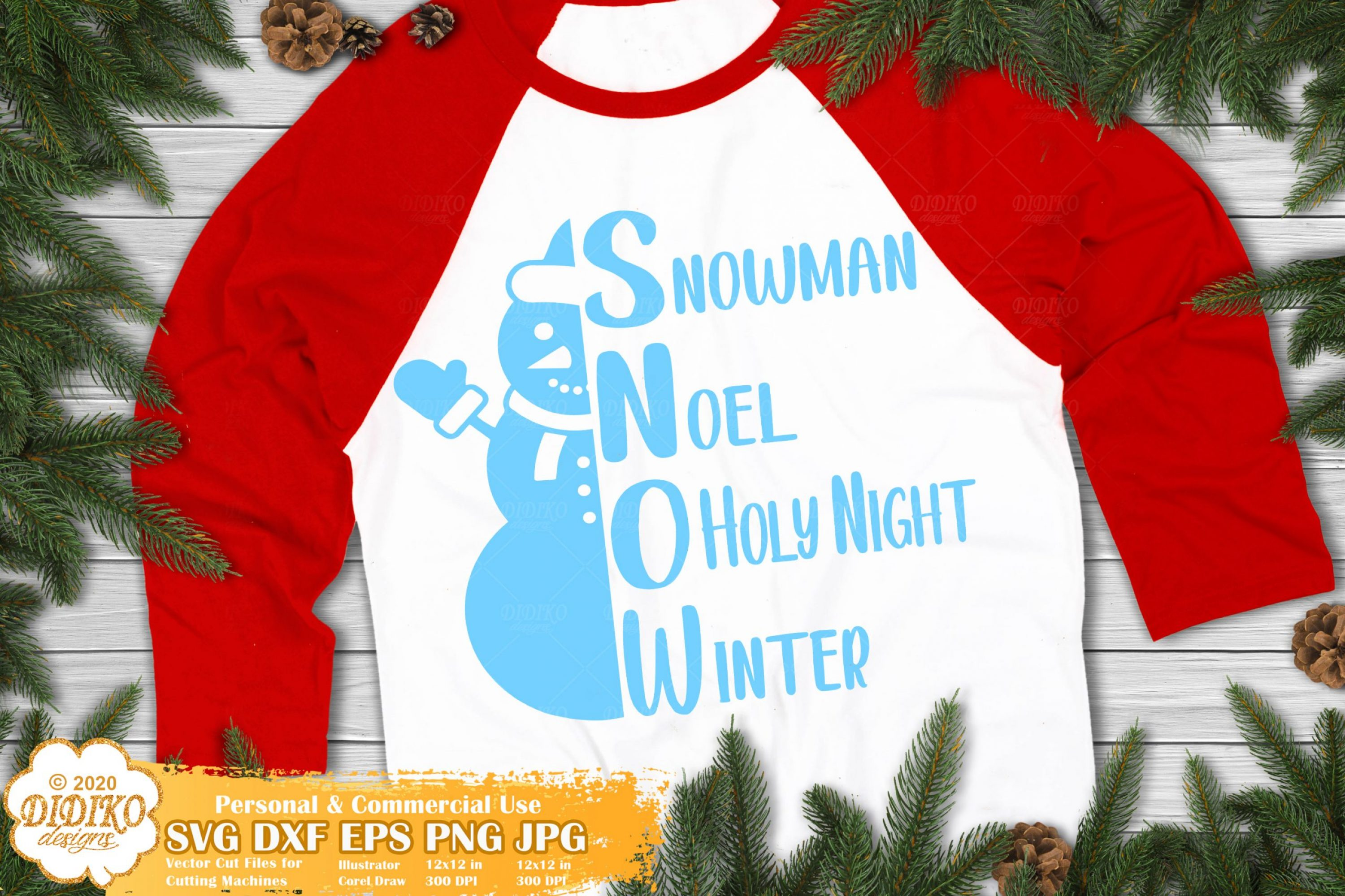 Snowman Words SVG, christmas words svg, holiday svg