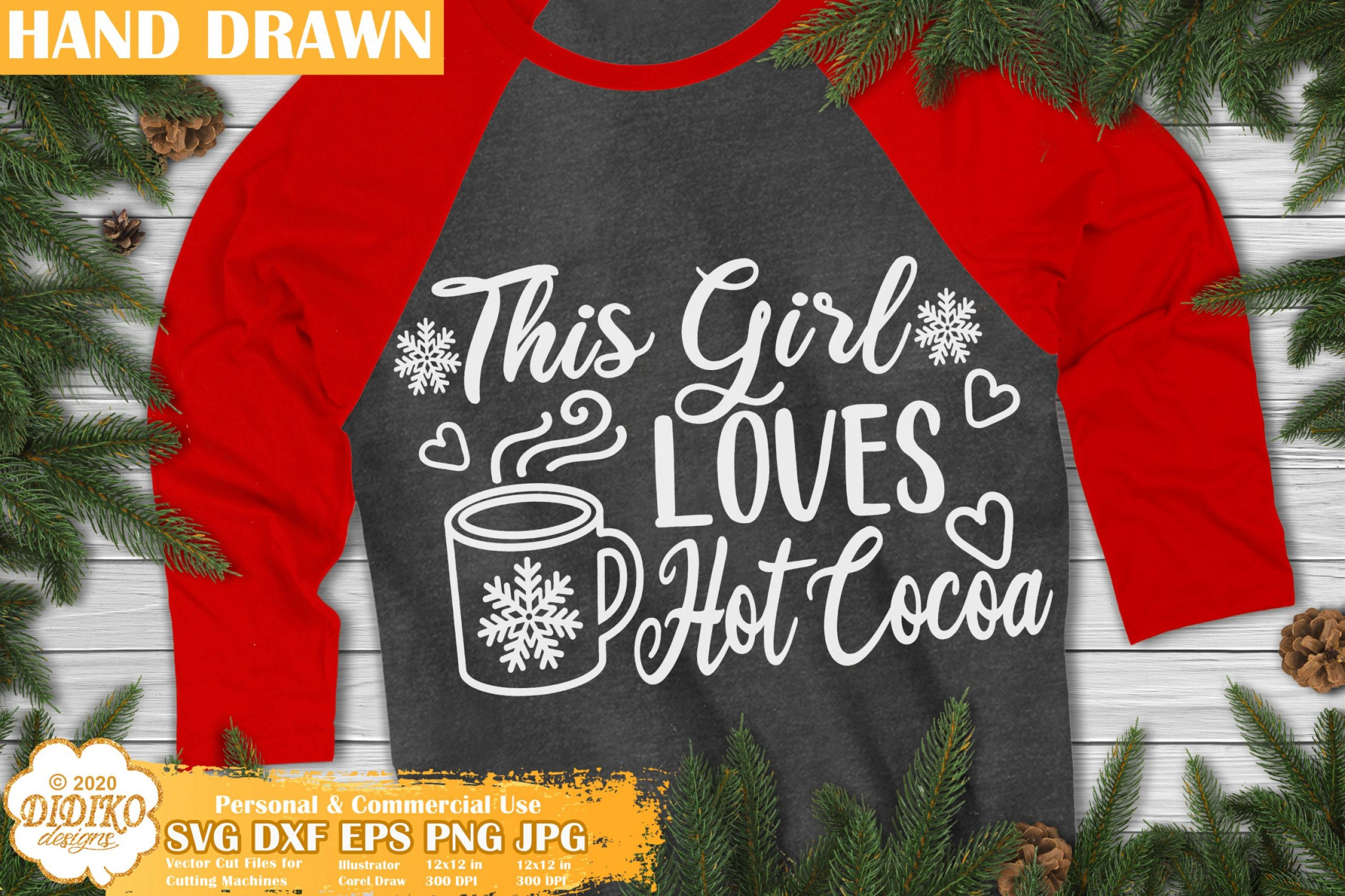 Funny Christmas Quotes SVG, Hot Cocoa Svg Cricut file