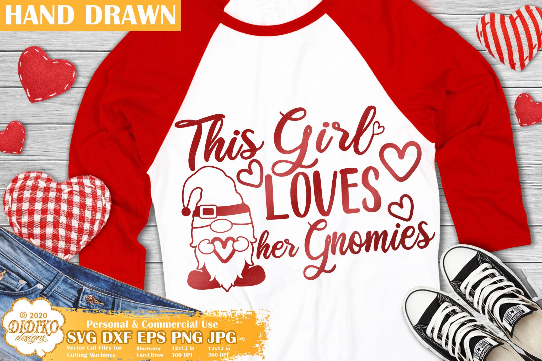 Valentine Gnomes SVG, Girl Svg, Valentine's Day SVG