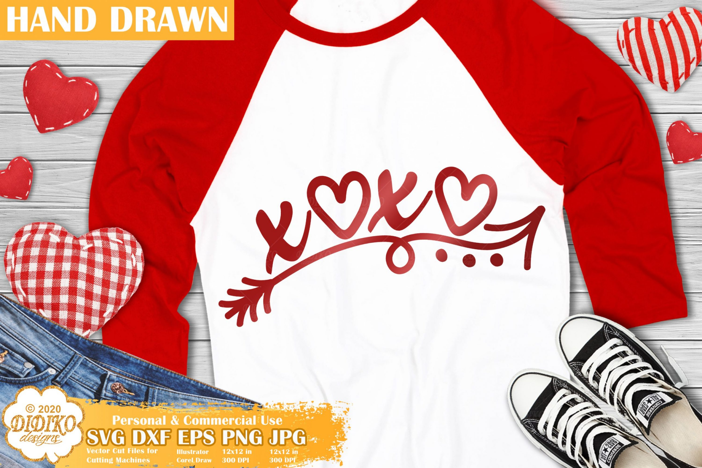 XoXo SVG, Funny Valentines Day Svg, Hearts Svg