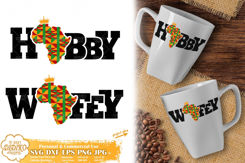 Hubby Wifey SVG, Black History Svg, Africa Svg, Ankara