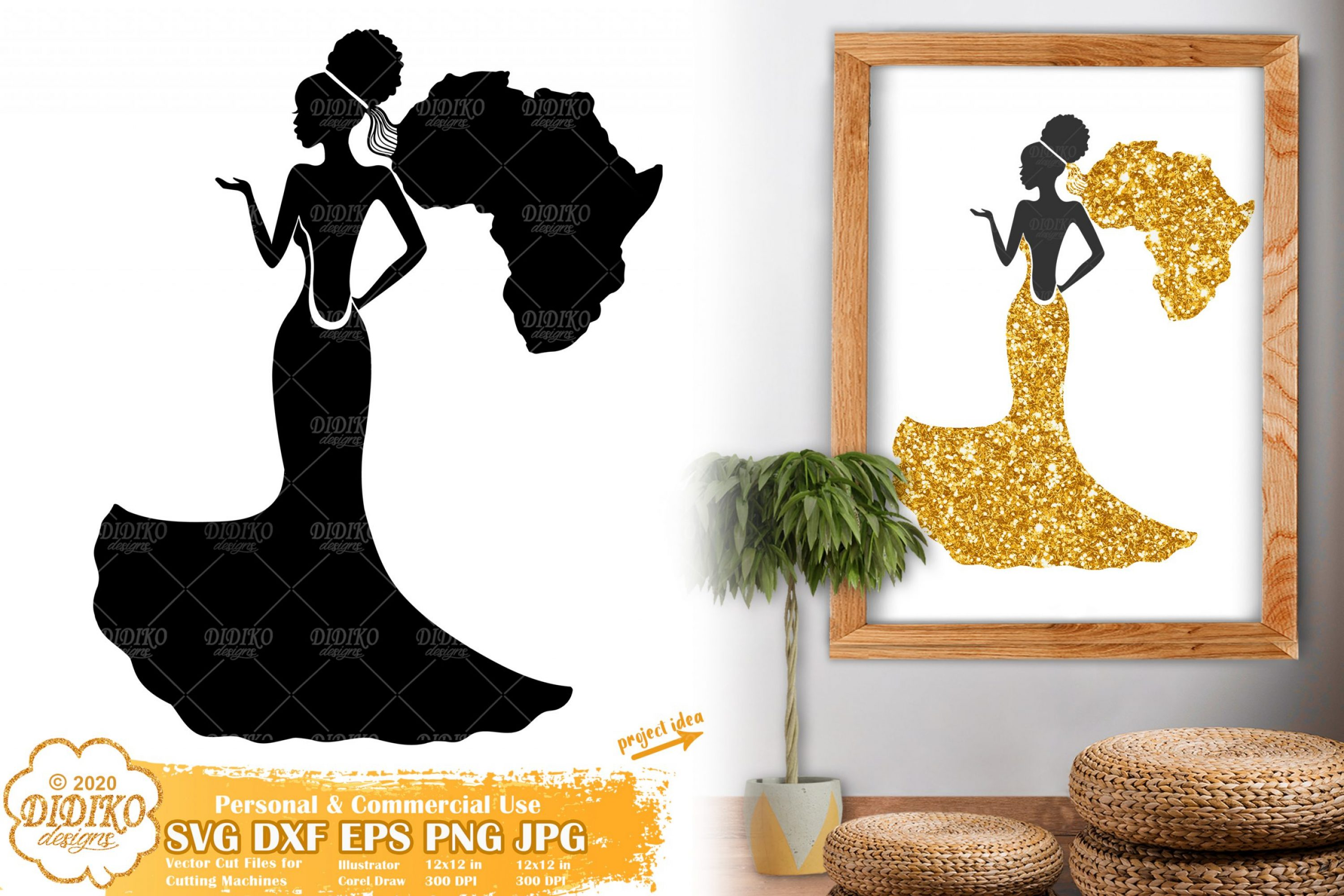 African American Bride SVG, Black Woman Svg, Africa