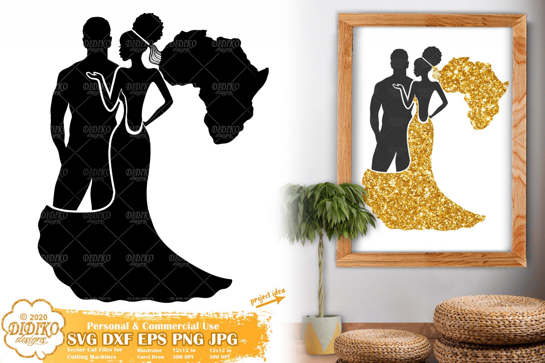 African American Wedding SVG, Black couple svg, Africa