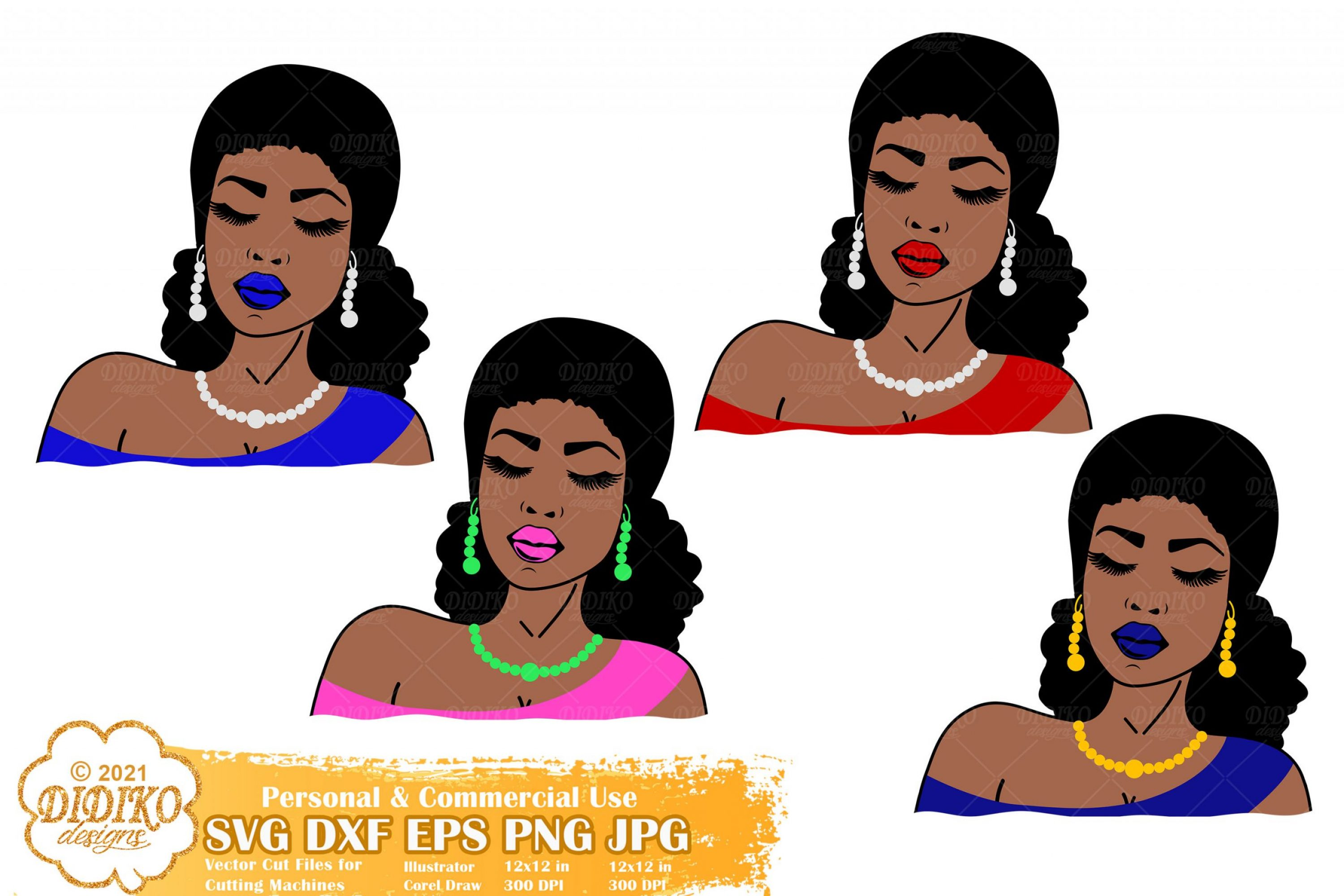 Black Women SVG Bundle, Chucks and Pearls Svg
