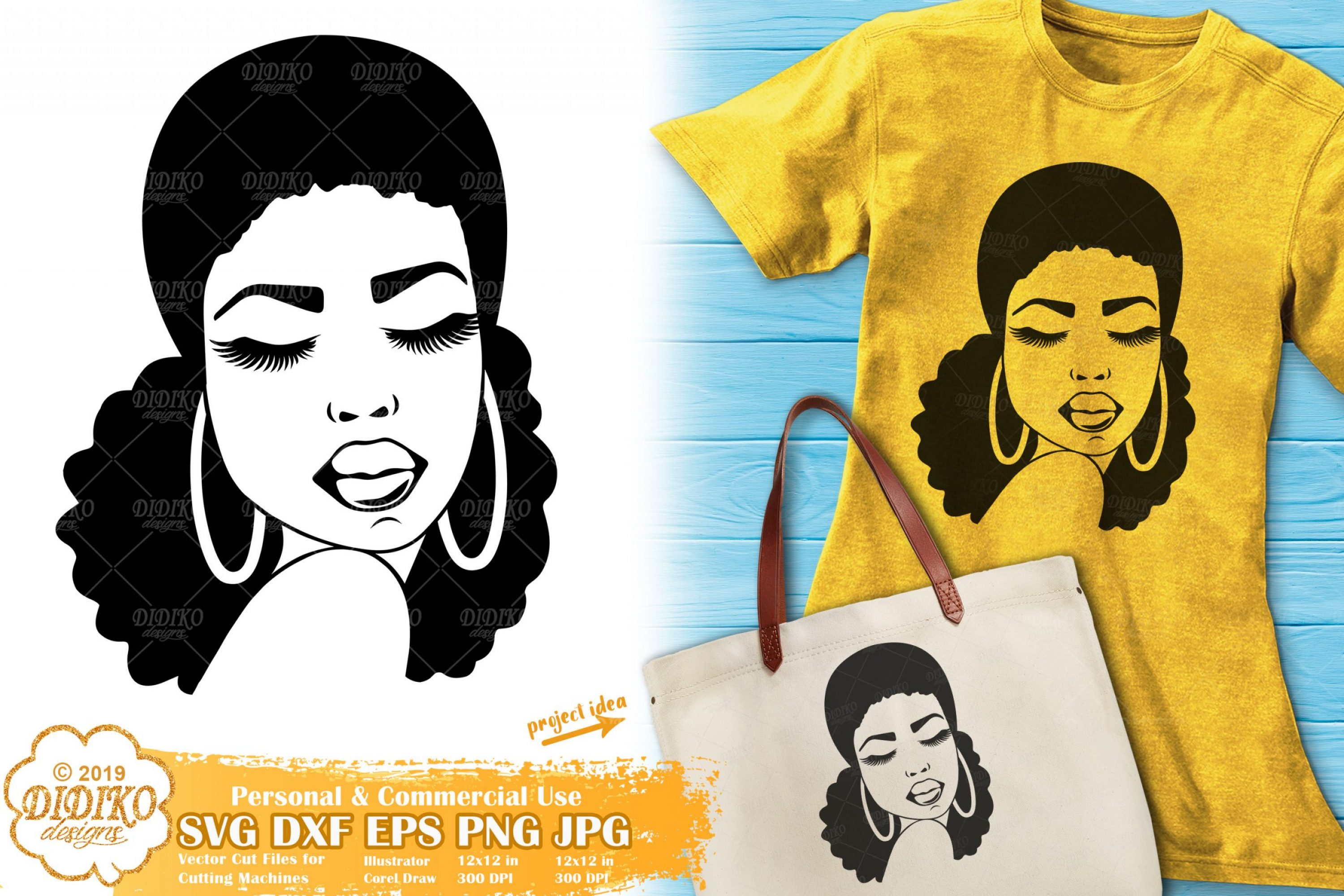 Afro Woman Silhouette SVG #2, African American SVG