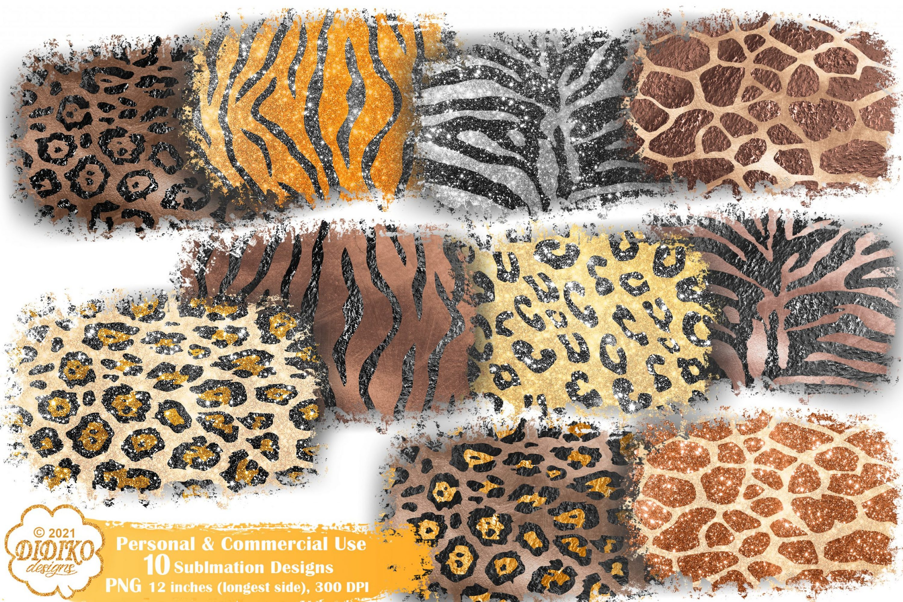 Animal Print Sublimation Background Bundle, Leopard