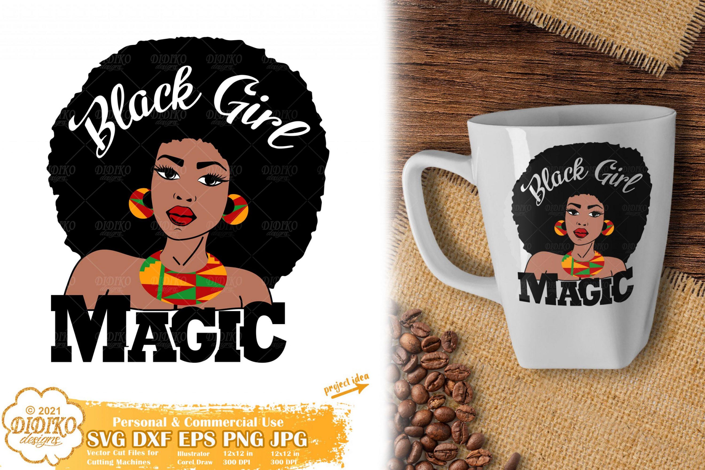 Black Girl Magic SVG #5, Black Woman Svg, Ankara svg