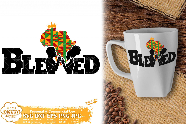 Blessed Black Couple SVG, Black History SVG, Ankara