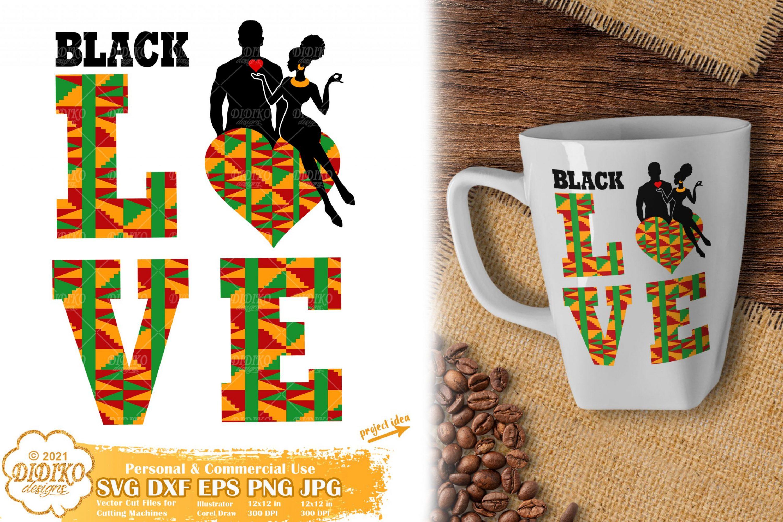Black Love SVG #6, Black Couple Svg File, Ankara Svg