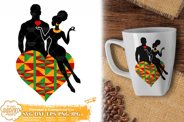 African American Couple SVG, Black Love Svg, Ankara