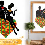 African American Couple SVG