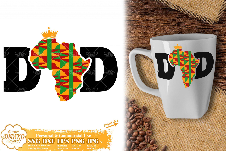 Black Dad SVG, Black History SVG, Africa SVG, Ankara