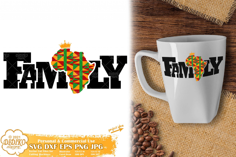 Black Family SVG, Black History Svg, Africa Svg, Ankara