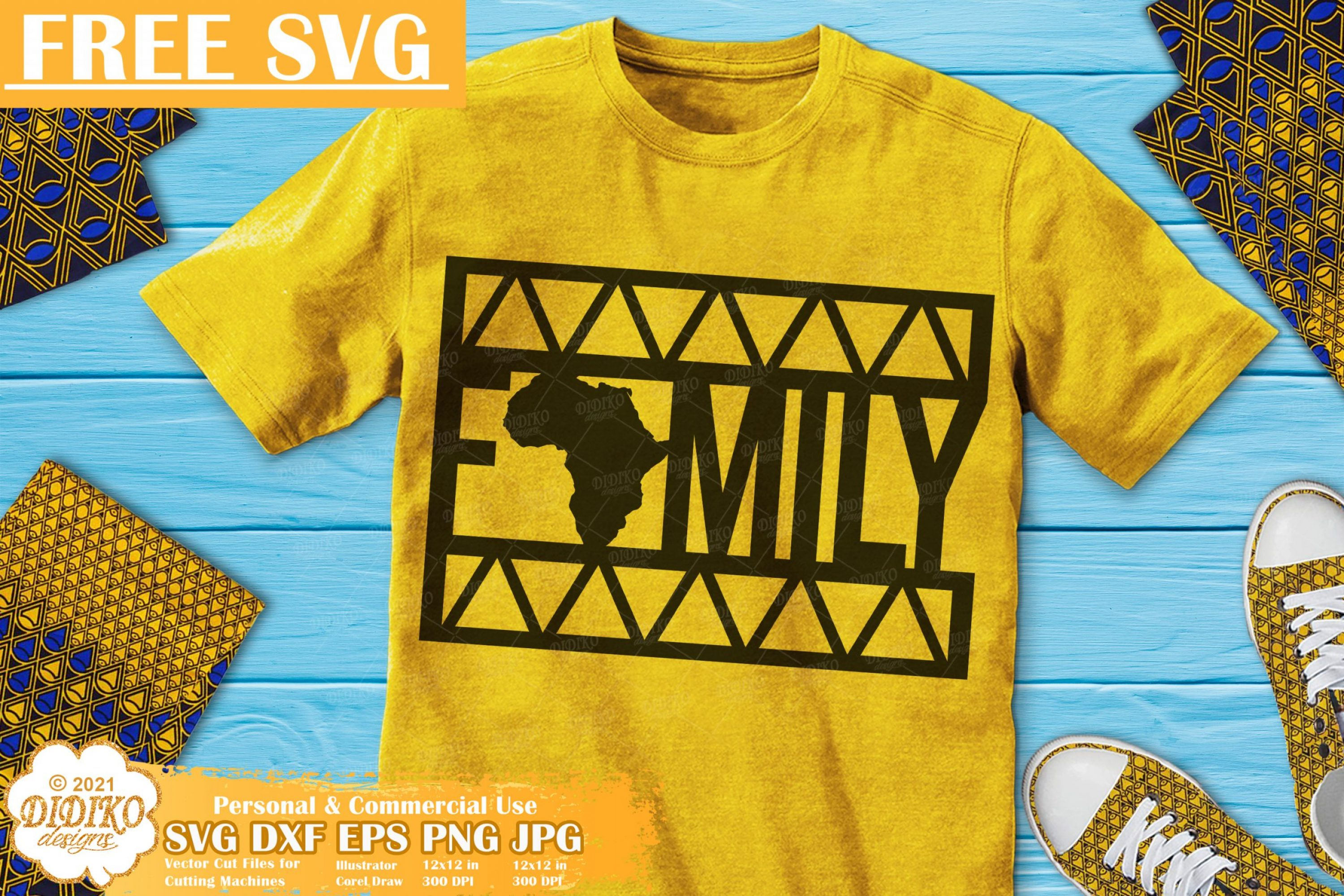 Black Family Free SVG, African Roots Svg, Ankara Svg