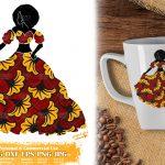 Ankara Black Woman SVG, Afro Girl Svg, Fashion png