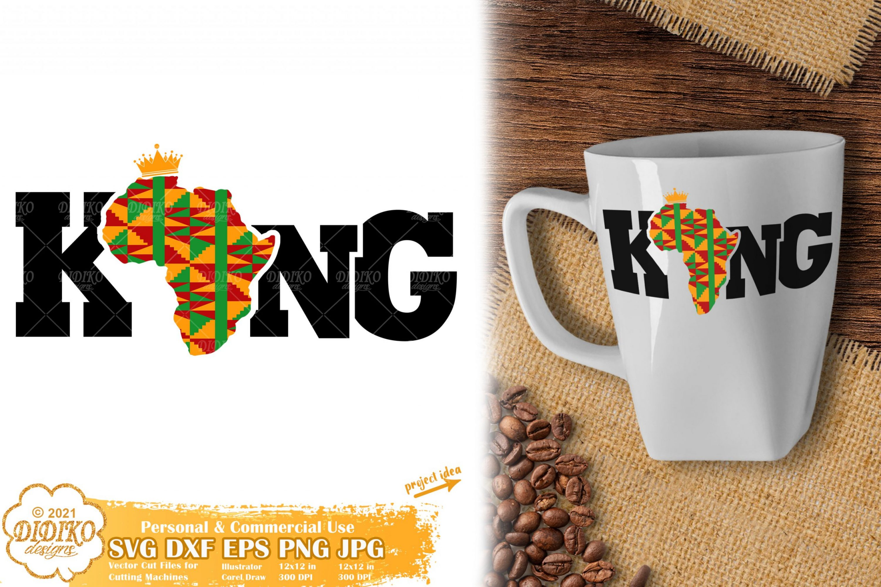 Black King SVG #11, Black History Man Svg, Ankara Svg
