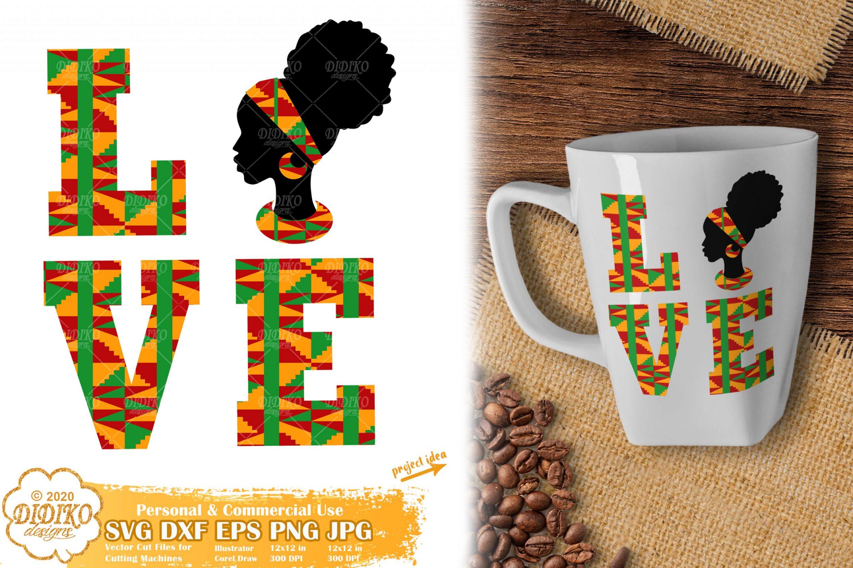 Africa Love SVG, Black History Women Svg, Ankara Svg