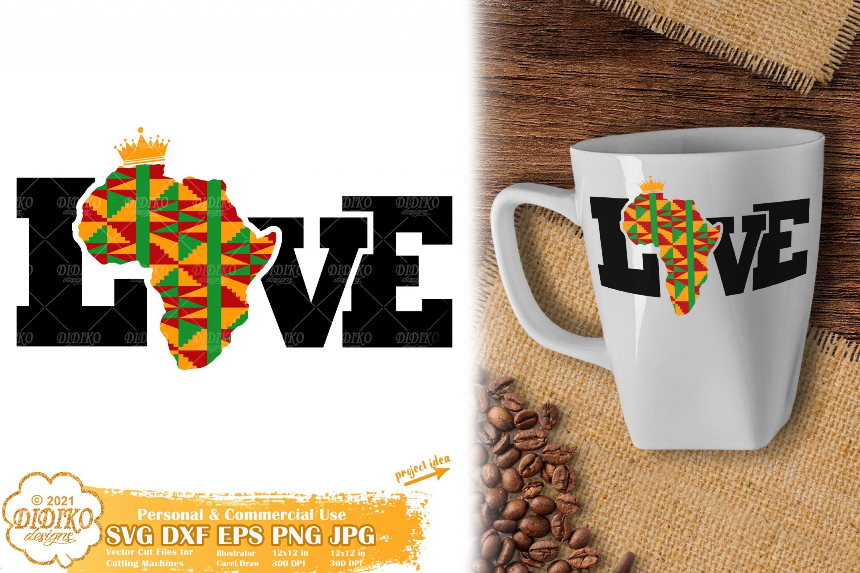 Love Africa SVG, Black History Month Svg, Ankara Svg