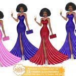 Black Woman Sorority Clipart
