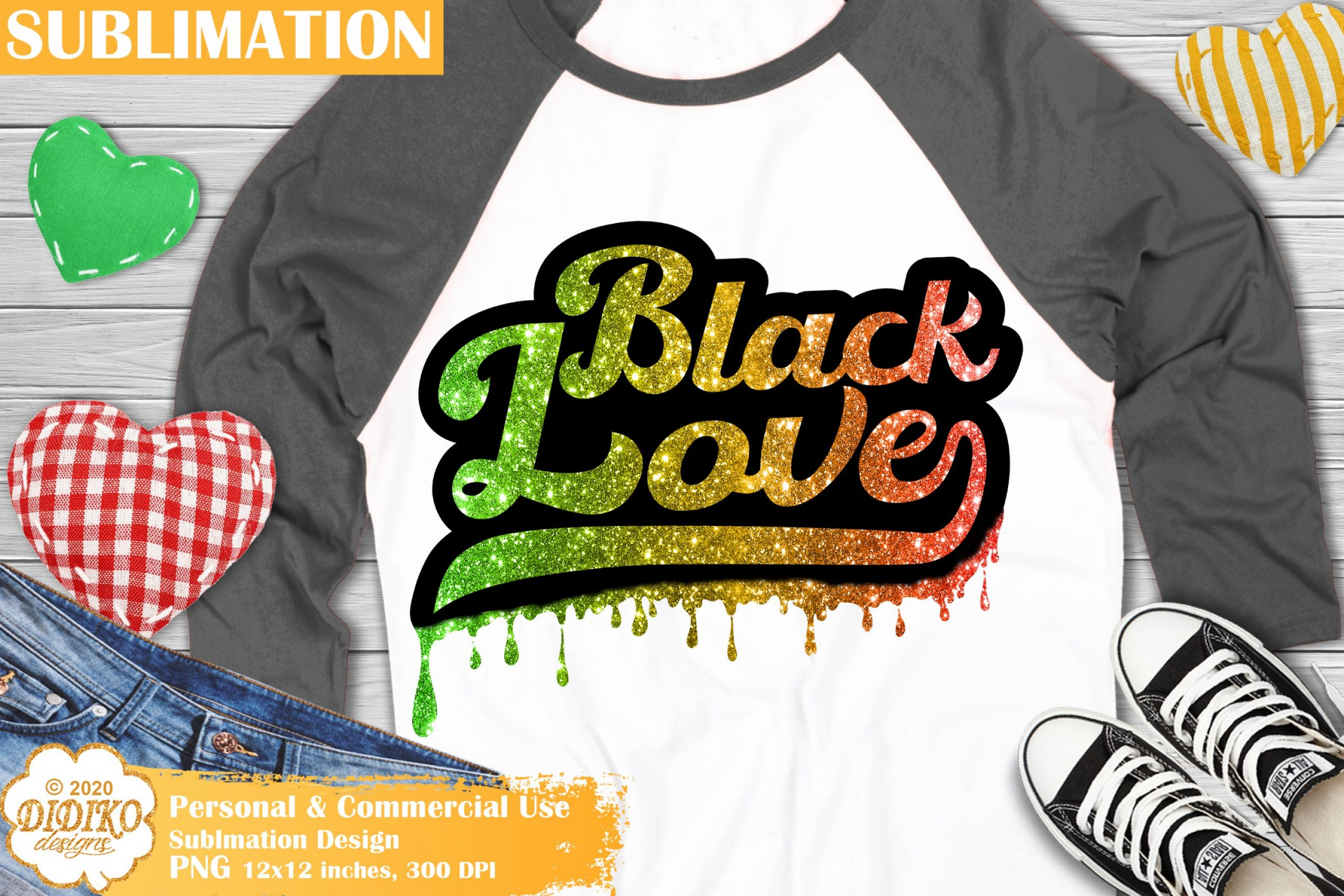 Black Love Sublimation Design, Dripping png sublimation