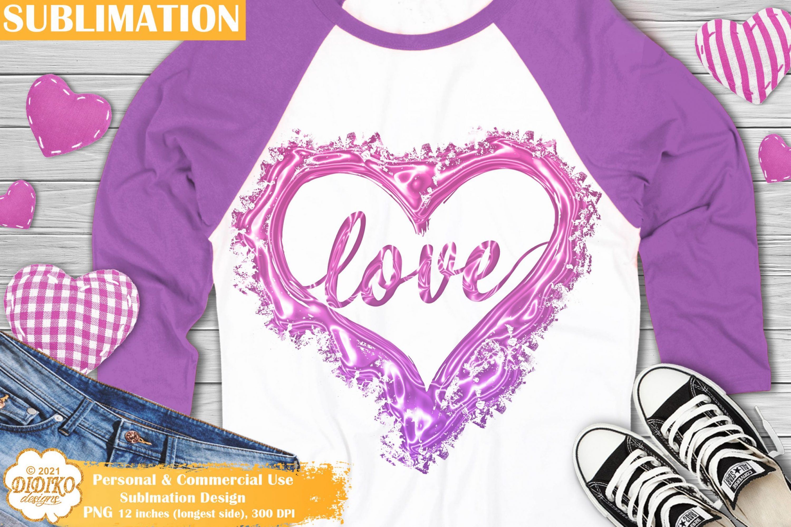 Love Sublimation Design, Valentines Sublimation Png