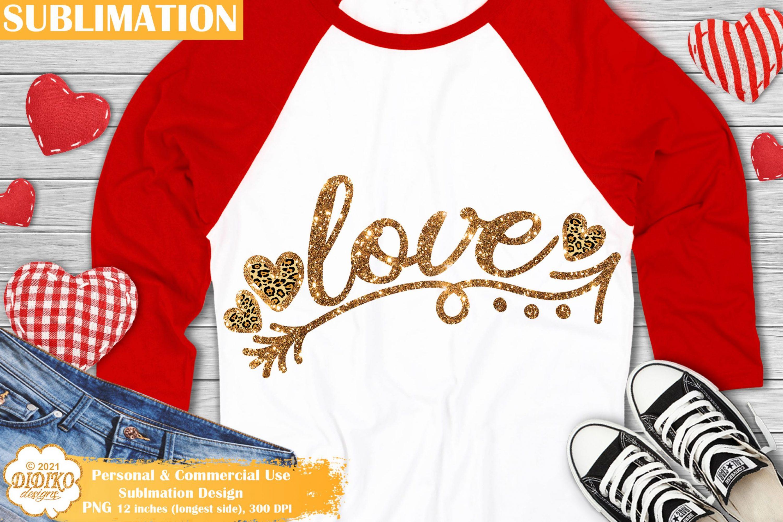 Leopard Love PNG, Valentines Day Sublimation Design