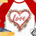 Love Hearts Sublimation Design
