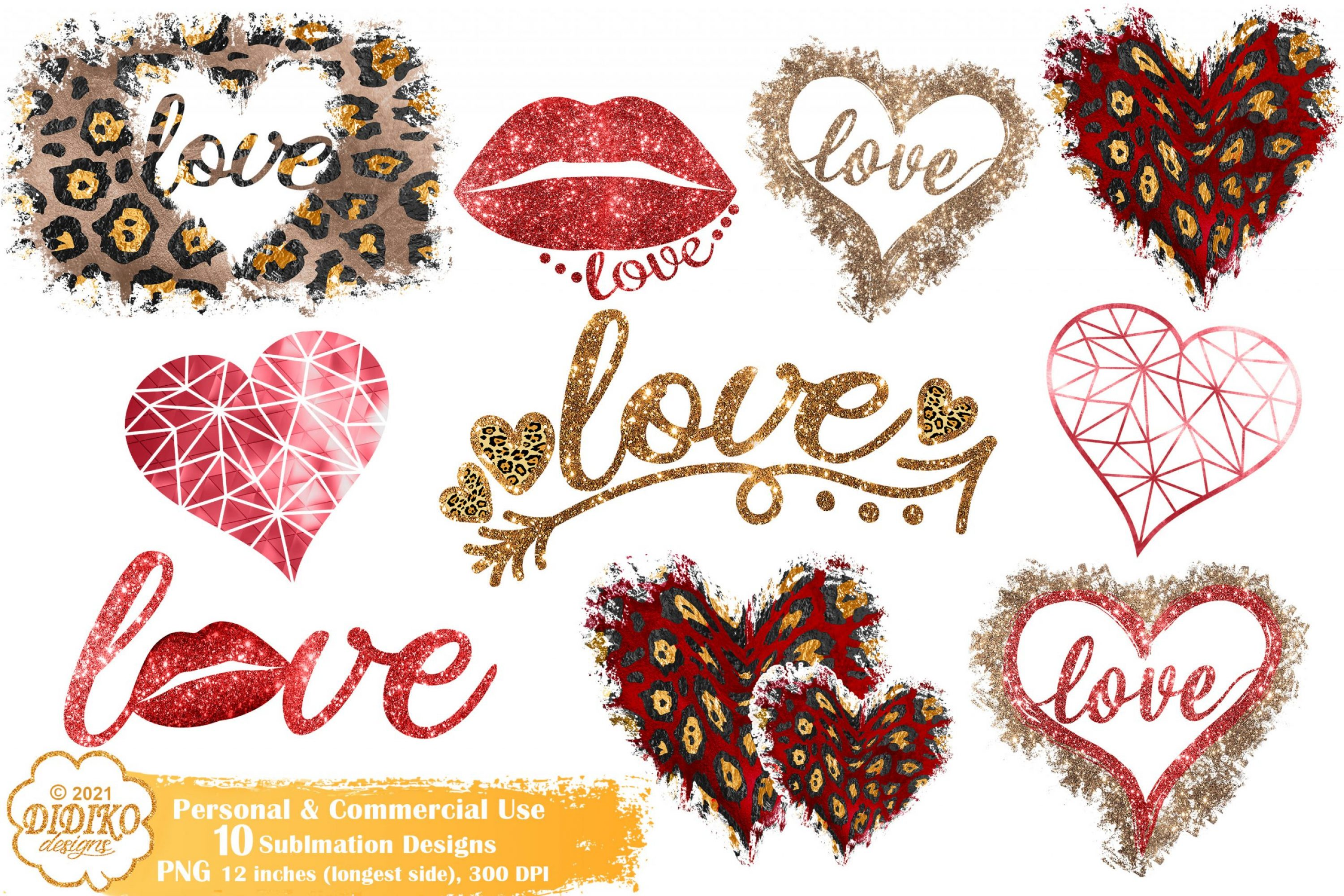 Valentine's Day Sublimation Bundle, Valentine PNG File