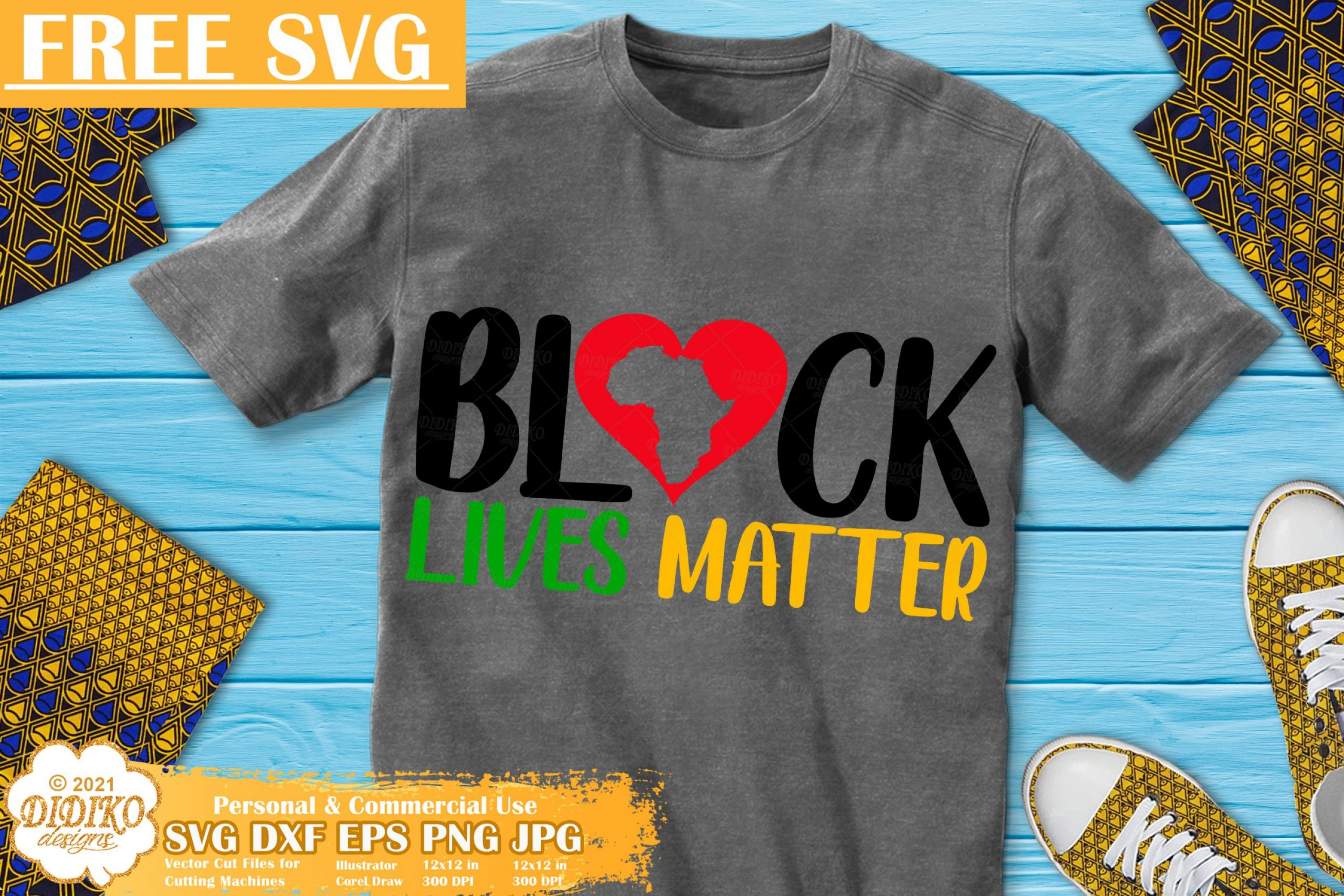 Black Lives Matter Free SVG File, Black History free svg
