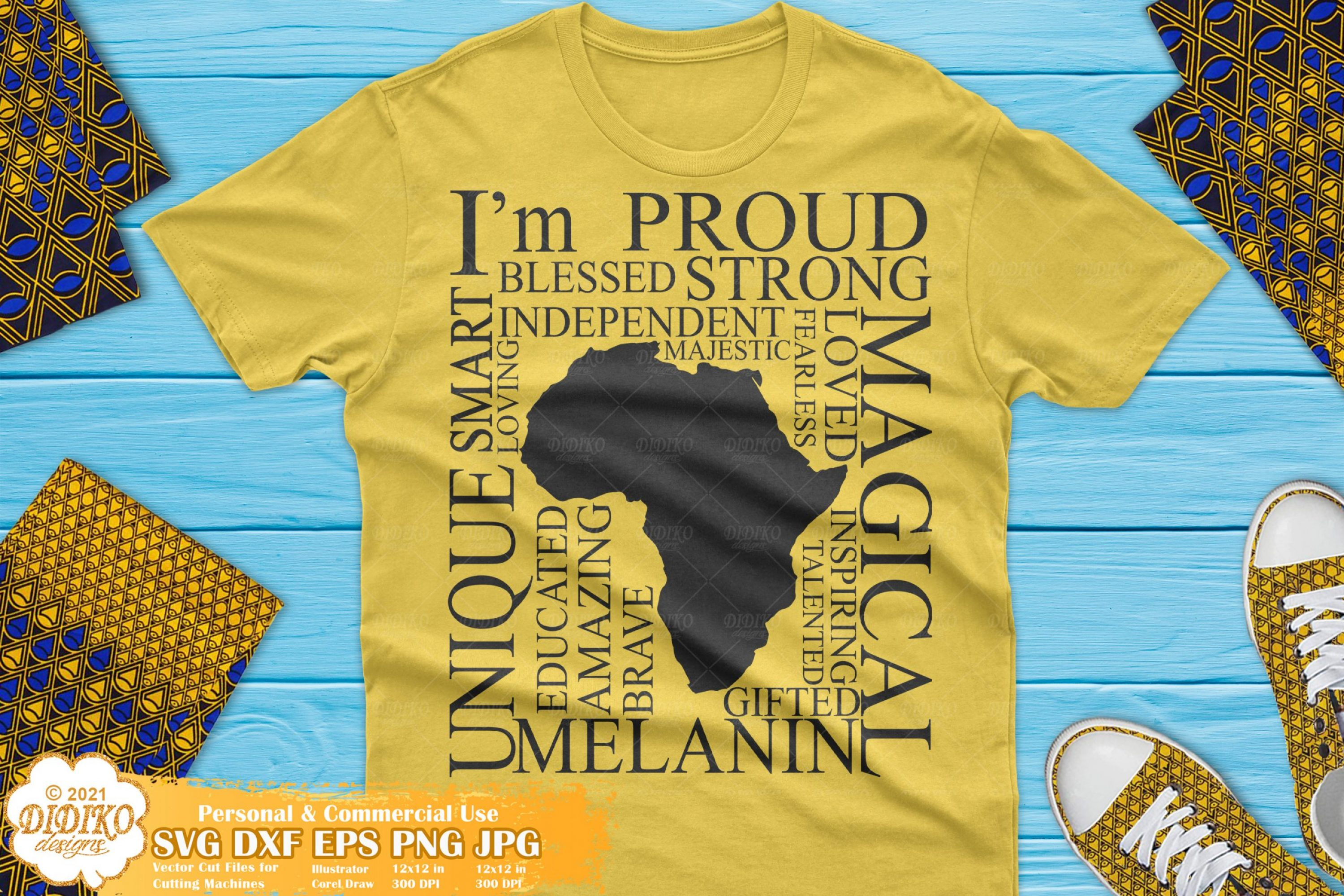 Africa Words SVG, Black and Proud Svg, Afro Roots Svg