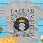 Afro Girl with Words SVG, Black girl magic Svg, Princess