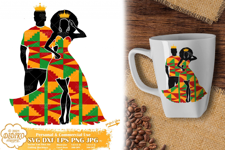 Black Queen and King SVG #1, black history svg, ankara