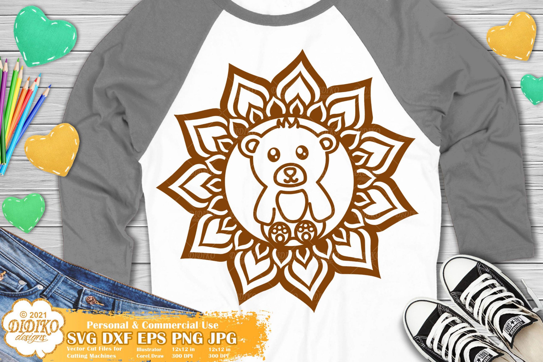 Bear Mandala SVG, Animal Mandala Svg, Woodland svg