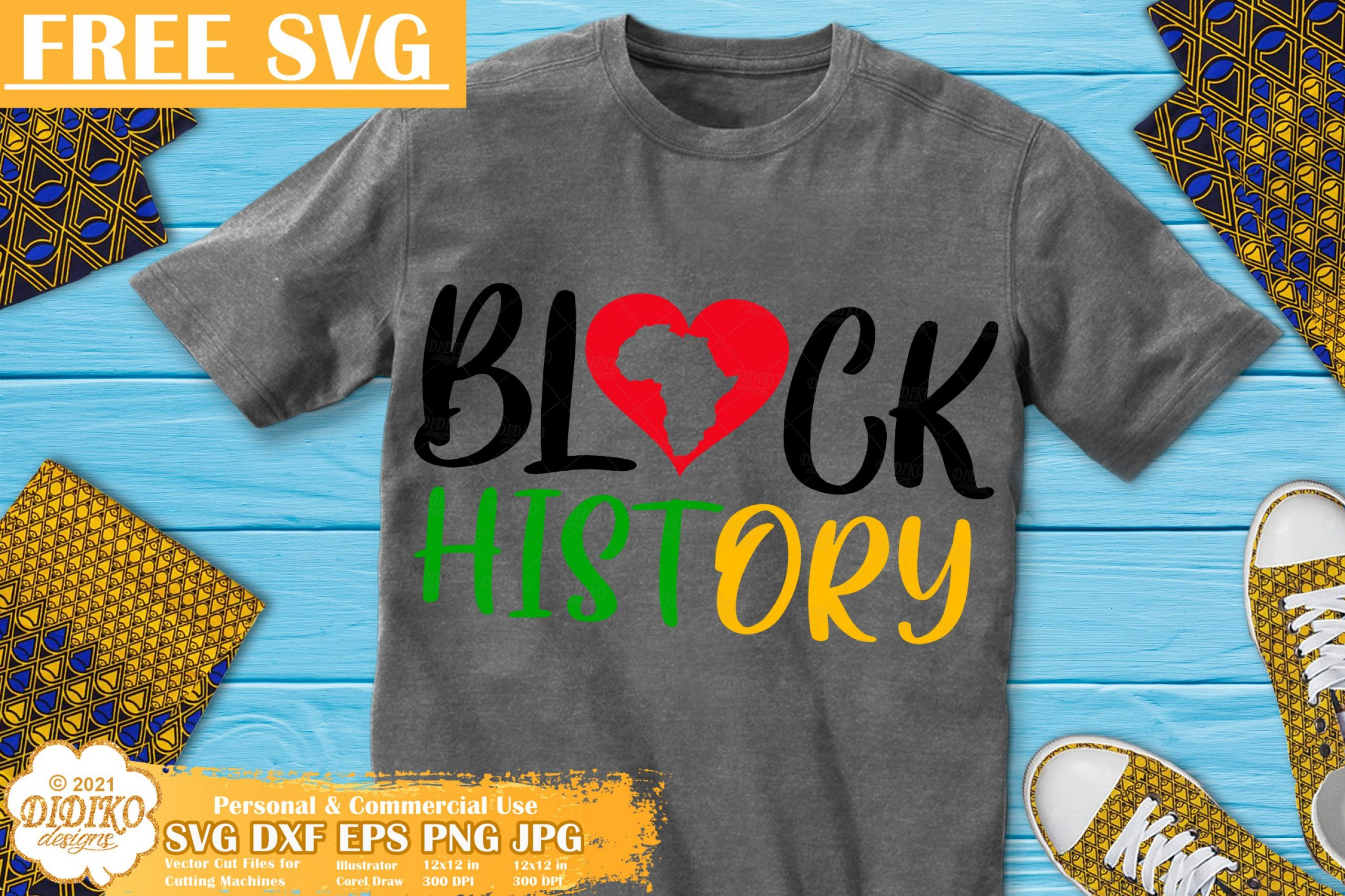 Black History Month Free SVG, Black Love svg cricut file