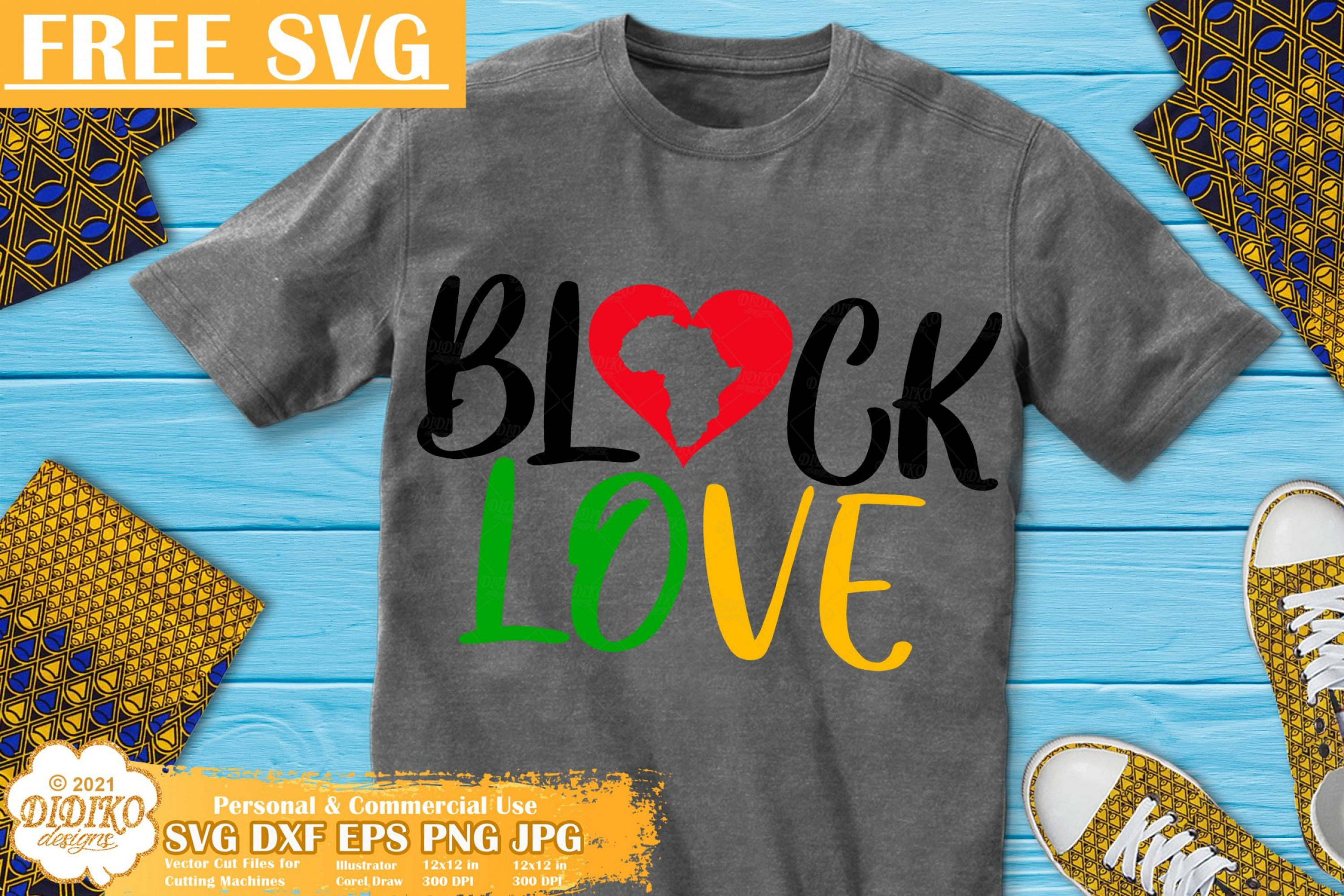 Black Love Free SVG File, Black History Svg Cricut File
