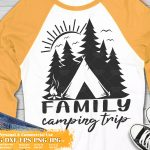 Family Camping Trip SVG #1