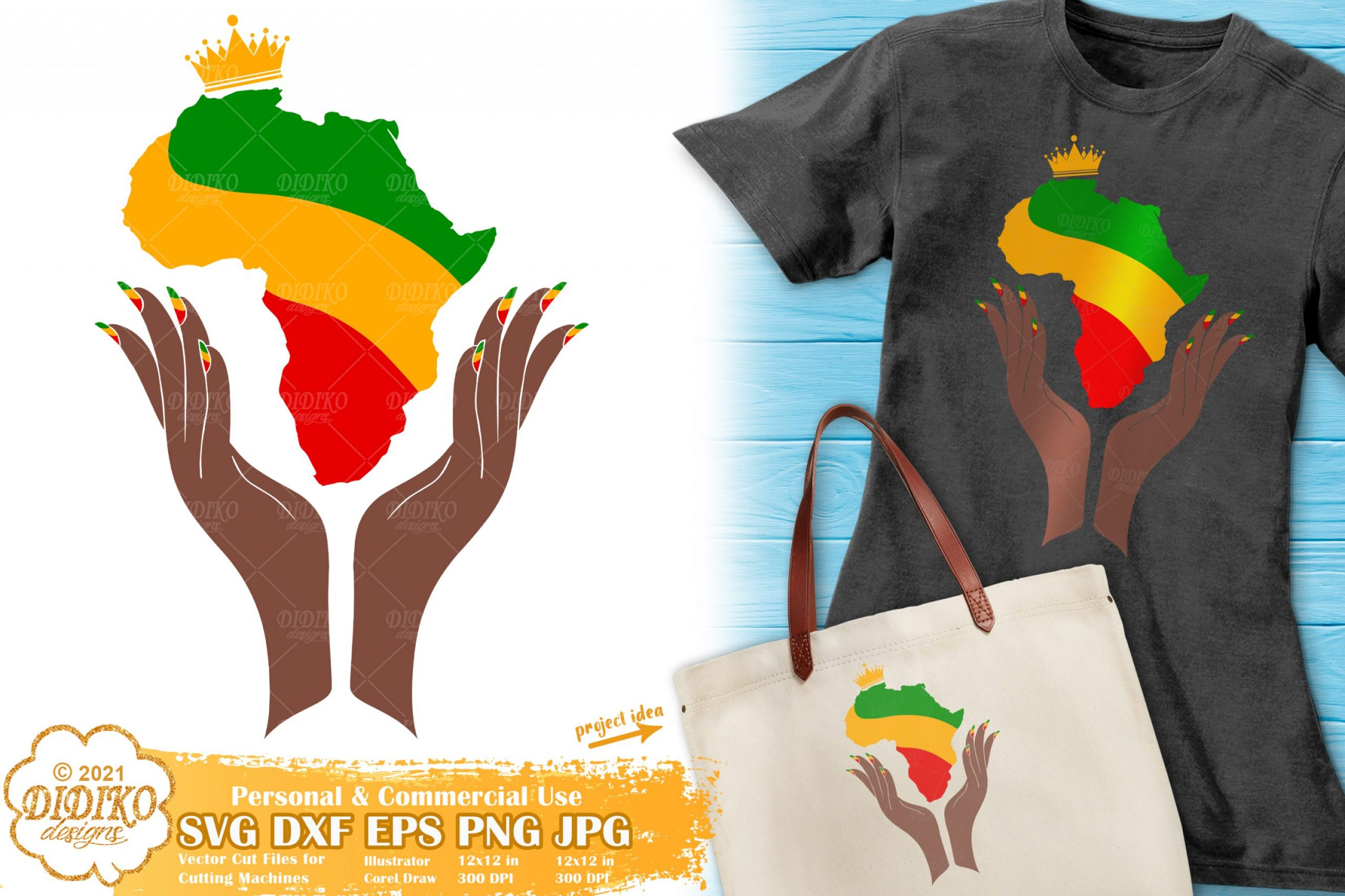 Africa Crown SVG, Black Woman Svg, Africa Map Svg