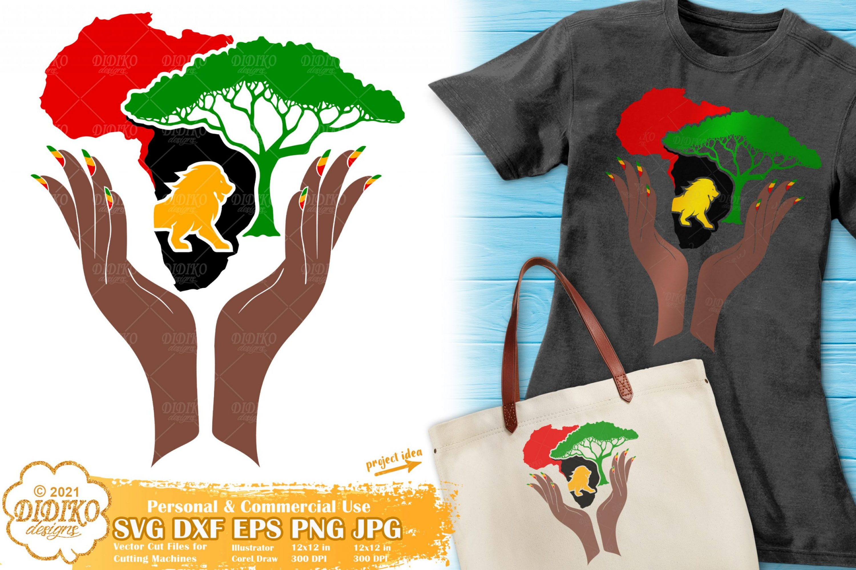 African Savanna SVG, Black Woman Svg, Africa Svg