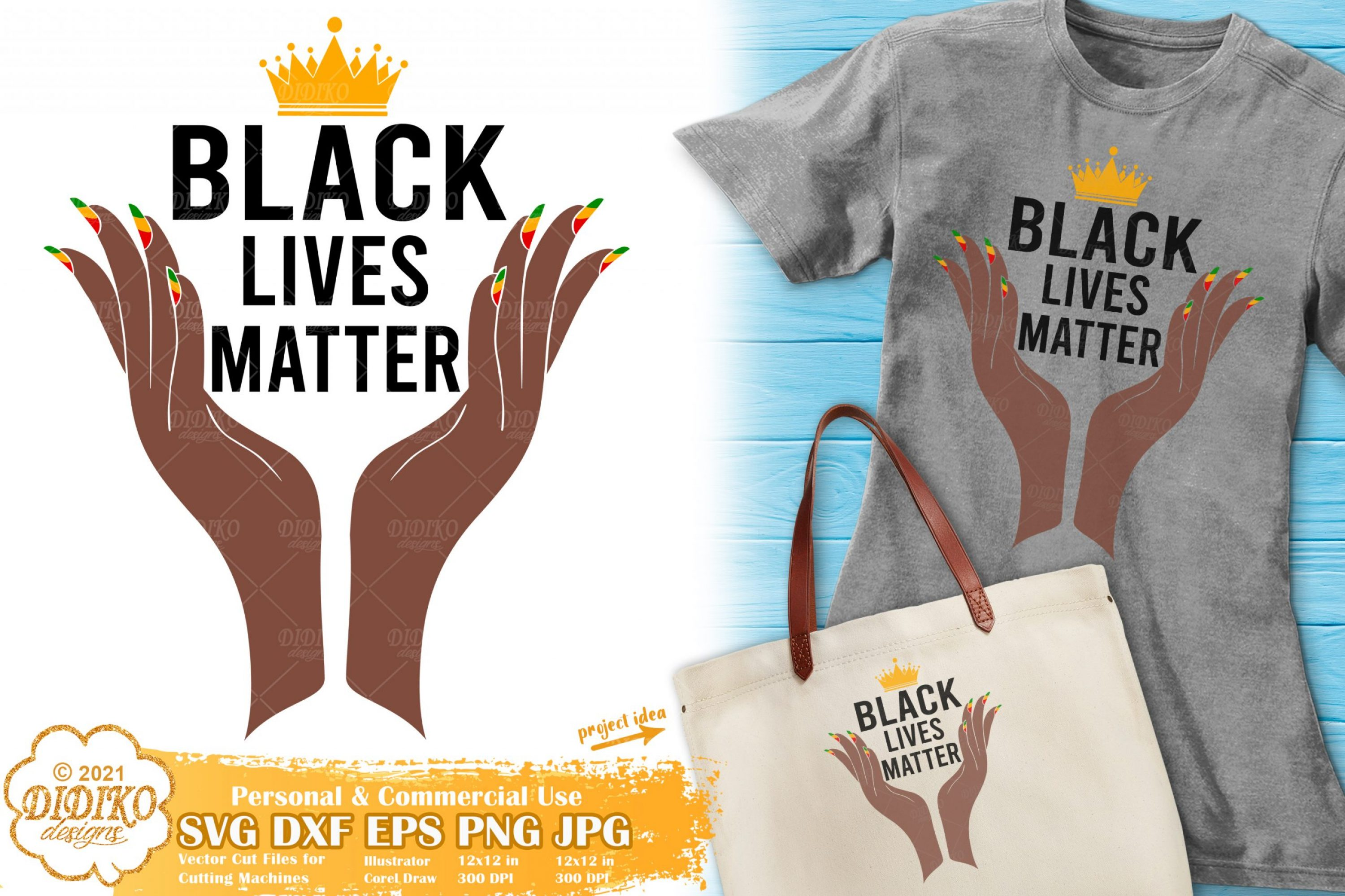 Black Lives Matter SVG File, Black Woman Svg, Melanin
