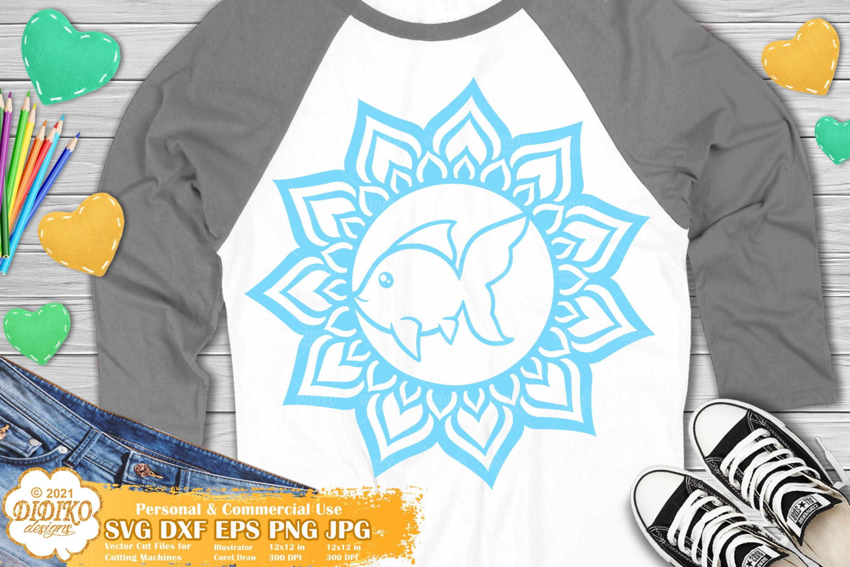 Fish Mandala SVG, Animal Mandala SVG, Cute Fish Svg