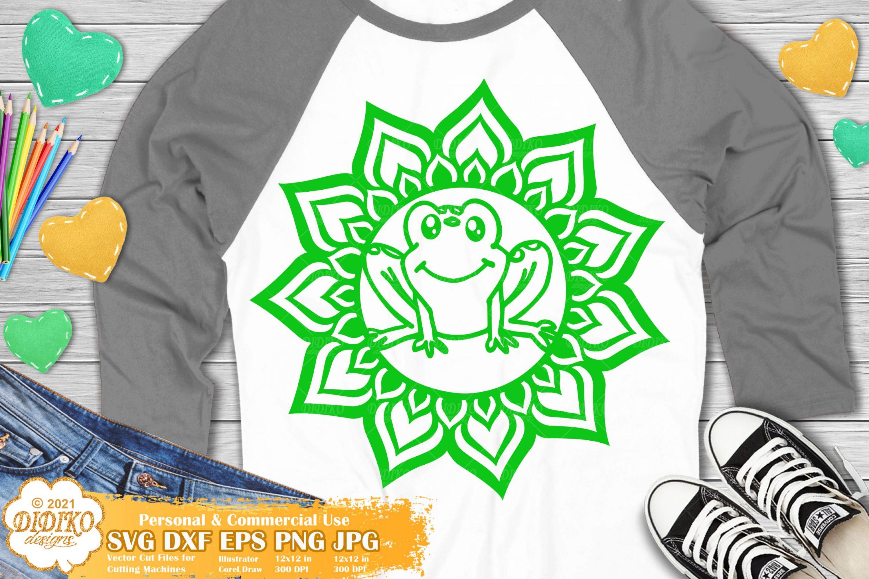 Frog Mandala SVG, Animal Mandala Svg, Cute Frog Svg