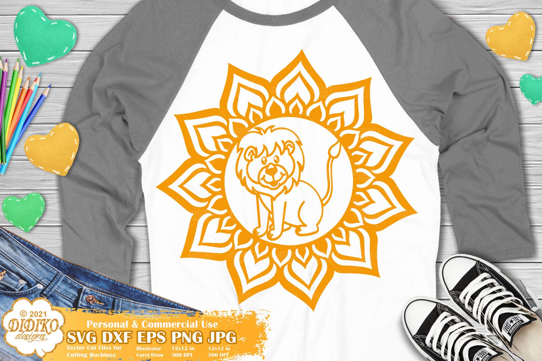 Lion Mandala SVG, Animal Mandala SVG, Cute Lion Svg