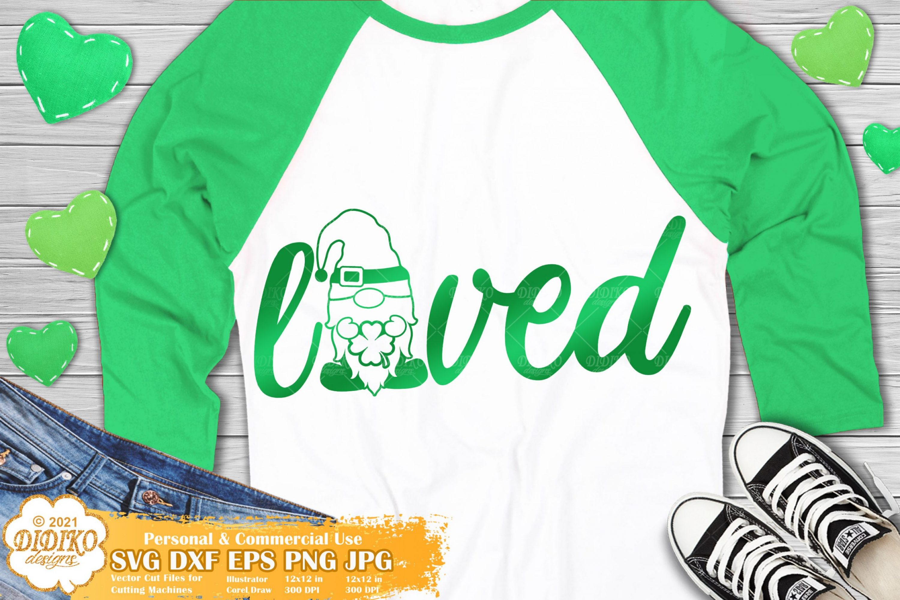 Patrick's Day Gnome SVG, Lucky and Loved Svg, Clover