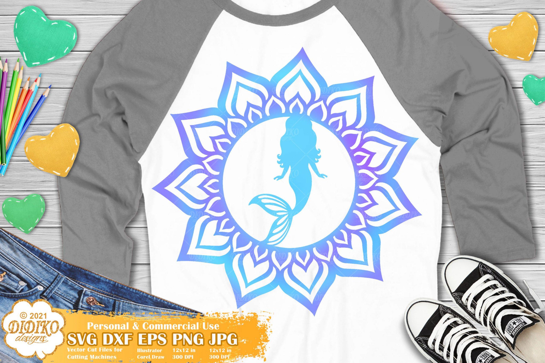 Mermaid Mandala SVG, Mandala Svg File, Mermaid Svg