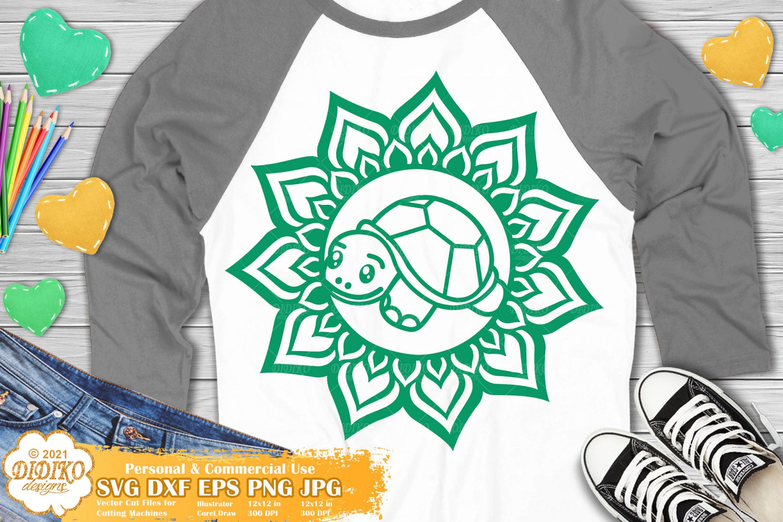 Turtle Mandala SVG, Animal Mandala Svg, Turtle Svg