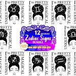Black Girl Zodiac Signs SVG, Afro Girl Bundle Svg