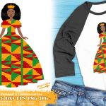 Black Girl with Crown SVG, Afro Girl Svg, Ankara Clipart