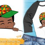 Black Boy Peek a Boo SVG