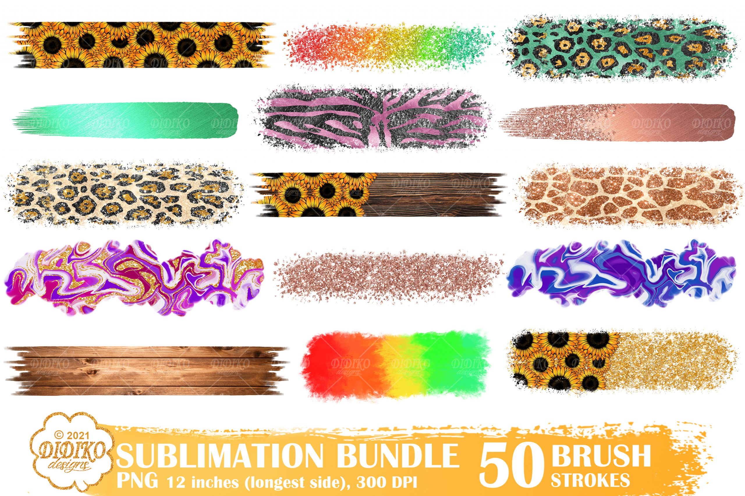 Brush Strokes PNG Bundle